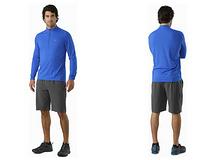 跑步训练组合-始祖鸟Cormac长袖颈部拉链衬衫+Aptin短裤
